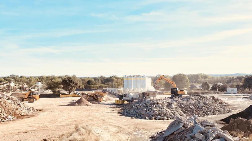 Centre de recyclage de déchets inertes Maraussan