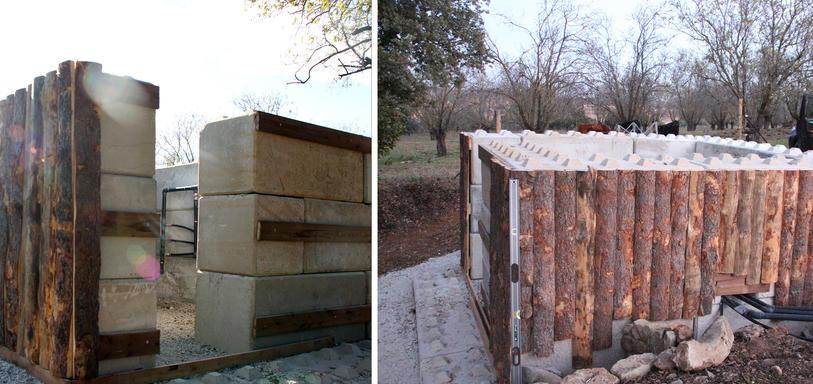 Abri de protection hivernale pour compteurs d'eau.